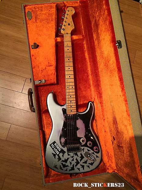 billy corgan bat strat stickers the smashing pumpkins guitar reverb. Black Bedroom Furniture Sets. Home Design Ideas