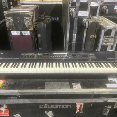 Roland XV88 Synth owned and used by Rick Wakeman of YES 1990 Black