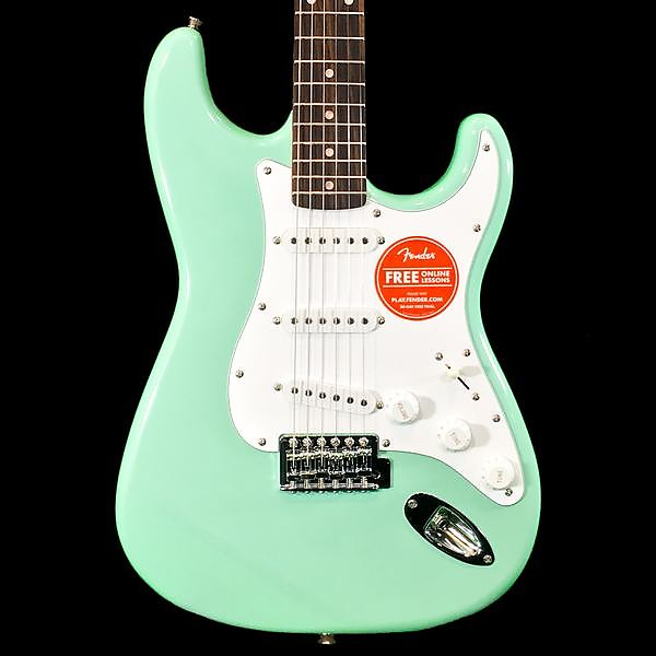 squier stratocaster surf green