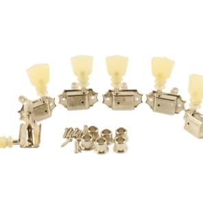 Kluson 3+3 Pearl Double Line Nickel Locking Tuners Fits Gibson Les Paul, 335,  Flying V SD90SLN DR/L