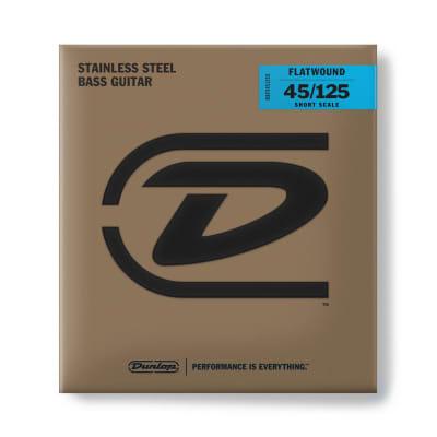 Dunlop Bass Flatwound Short Scale 45/125 5/Set Dbfs45125 S