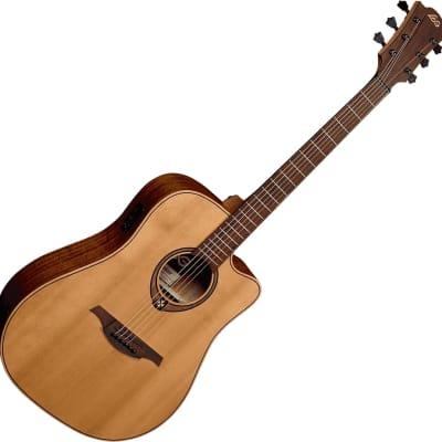 Lag T170DCE Tramontane 170 Dreadnought Cutaway Khaya Neck 6-String Acoustic-Electric Guitar -B-Stock