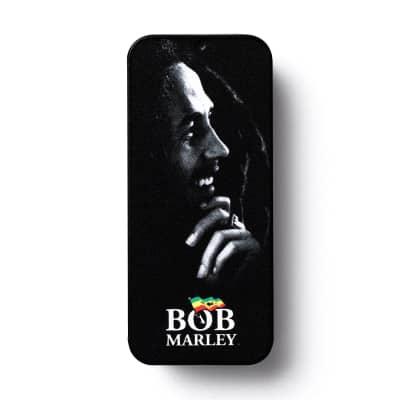 Dunlop BOBPT04H Bob Marley Silver Portrait Heavy Guitar Pick Tin (6-Pack)