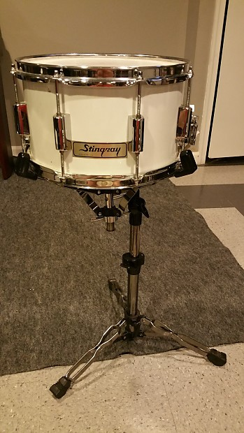 stingray white snare drum 12 x 7 5 the cool reverb. Black Bedroom Furniture Sets. Home Design Ideas