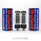 Brand New Plate Current Matched Pair (2) Reissue Mullard EL34 6CA7 Vacuum Tubes image