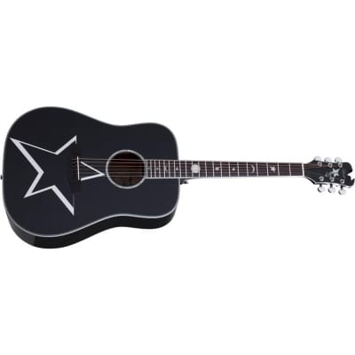 Schecter RS-1000 Robert Smith Busker Dreadnought Acoustic, Gloss Black for sale