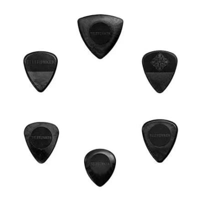 New Telefunken Elektroakustik Variety Mix Pack Guitar Picks (6-pack) - Black