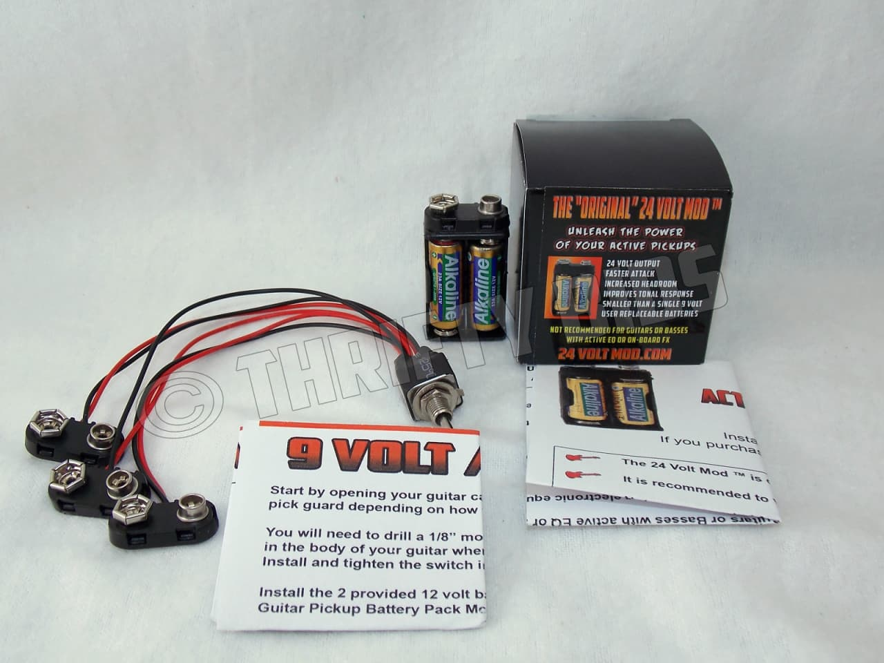 24 VOLT Mod Active Guitar Pickup Battery Pack ™ With | Reverb