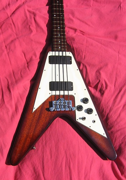 gibson epiphone flying v bass guitar 1998 brown one off reverb. Black Bedroom Furniture Sets. Home Design Ideas