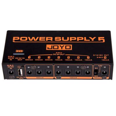 Joyo JP-05 Power Supply 5 Pedal Power Supply 8 Outputs 9v 12v 18v USB Rechargeable