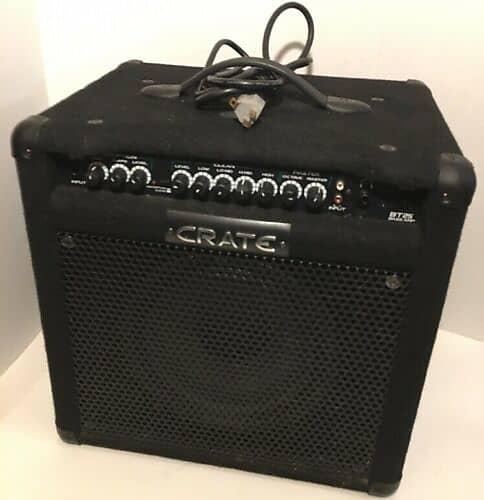 crate bt25 electric bass guitar amp built in tuner reverb. Black Bedroom Furniture Sets. Home Design Ideas