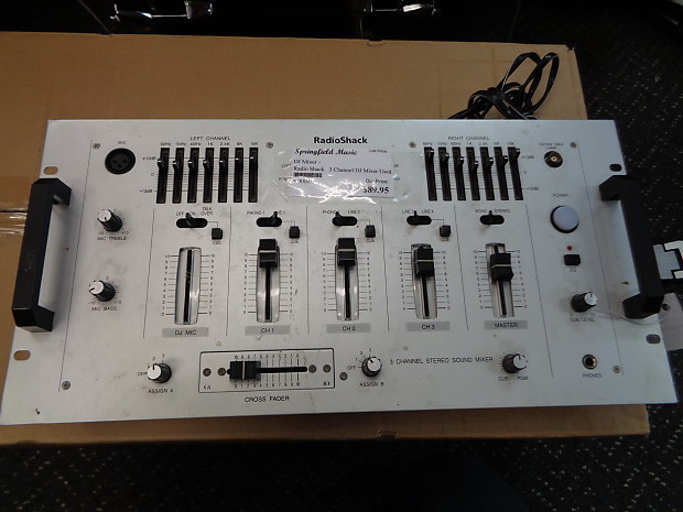 used Radioshack 3 Channel Stereo Sound Mixer w/ 7 Band | Reverb