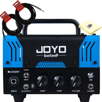 JOYO BlueJay Bantamp 20w Pre Amp Tube Hybrid Guitar Amp head with 2 Instrument Cable and Zorro Cloth for sale