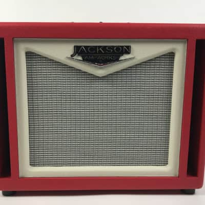 Jackson Ampworks 1x12 Dual Ported Cabinet w/ British Speaker - Red/Ivory USED