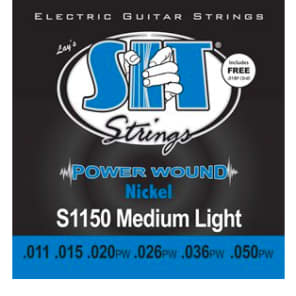 SIT Power Wound Electric Guitar Strings - Medium Light for sale