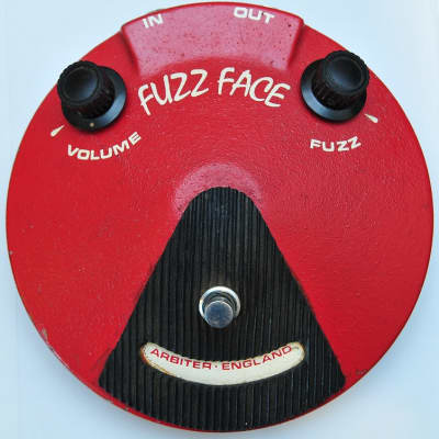 Original Arbiter Fuzz Face 1968 red, pre-Dallas Germanium NKT275 transistors, beautiful tone! for sale