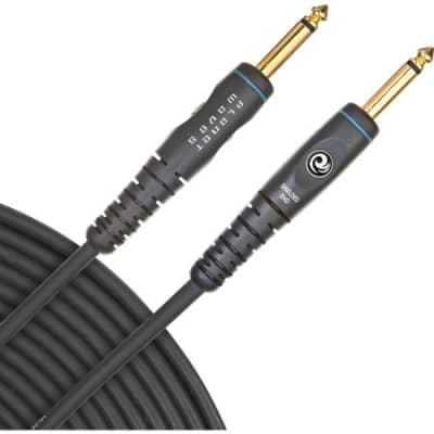 "Planet Waves PW-G-20 Custom Series 1/4"" TS Straight Gold-Plated Instrument Cable - 30'"