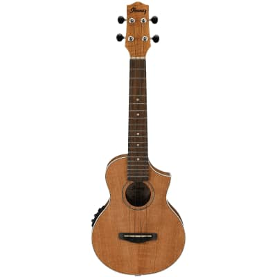 Ibanez UEW15EOPN 4-String Ukulele, Right, Open Pore Natural