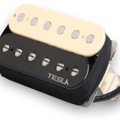 Tesla PLASMA-7 Humbucker Guitar Pickup - Bridge / Zebra