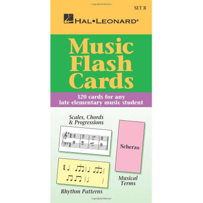 Music Flash Cards: 120 Cards for Any Late Elementary Music Student - Set B