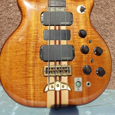 Alembic Series 1 Short scale bass 1979 Koa top. w/original Blue Alembic case.Additional Price Drop. for sale