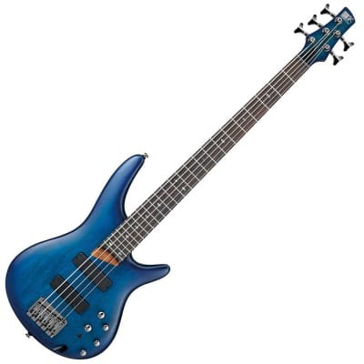 Ibanez SR505 - Sapphire Blue Flat 2018 Spot Run Bass Guitar for sale