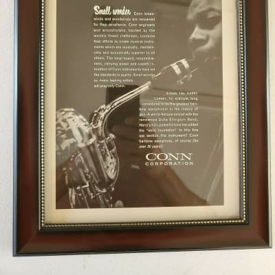 1961 Conn Horns Promotional Ad Framed Harry Carney Original