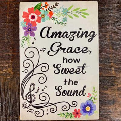 Life is Music Decor Plaque - Amazing Grace