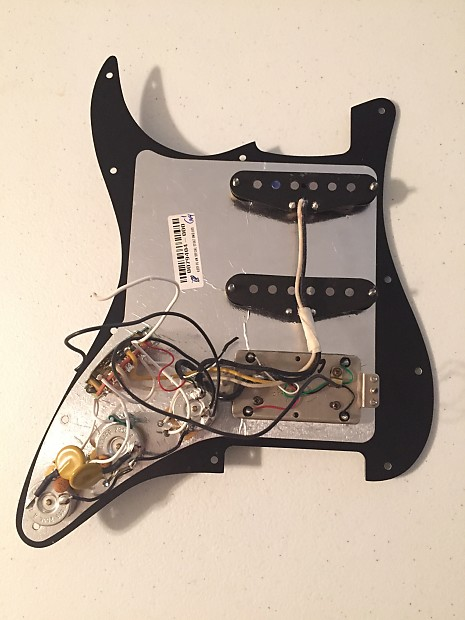 Fender HSS American Special Strat Loaded Pickguard Texas Special Atomic on fender strat wiring mods, fender strat ultra wiring-diagram, fender strat schematics, 1995 johnson outboard wiring diagram, fender strat hss, fender stratocaster grease bucket wiring, texas special pickup wiring diagram, stratocaster parts diagram,