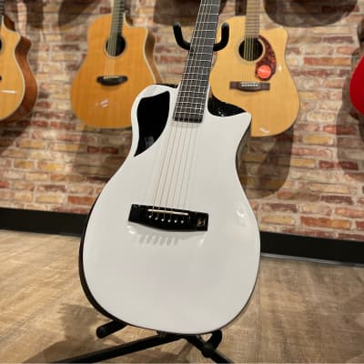 Journey OF660 Collapsible Carbon Fibre Travel Guitar White for sale