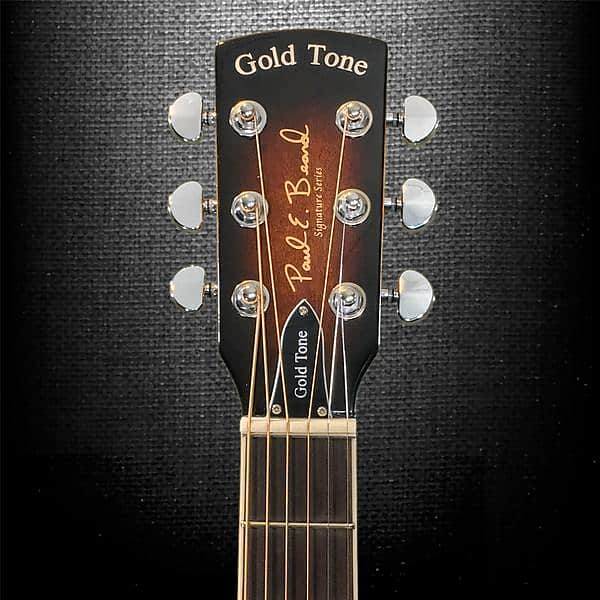 Gold Tone Paul Beard Signature Round Neck Resonator