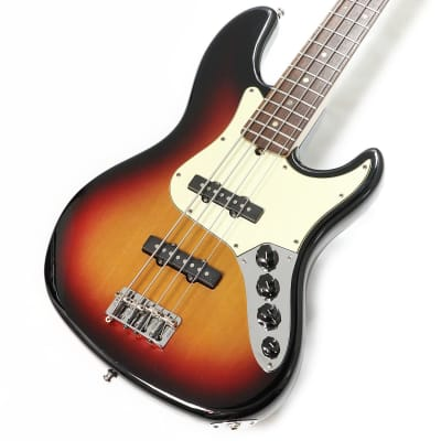 Fender USA American Deluxe Jazz Bass Scn 3 Tone Sunburst for sale