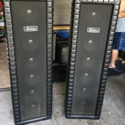 Kustom Kustom PA 200 w/columns late60's Black for sale