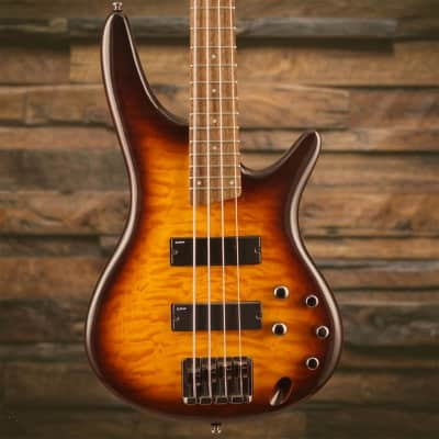 Ibanez SR400QMBBT Brown Burst Electric Bass for sale