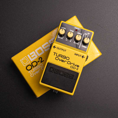 Boss OD-2 Turbo OverDrive (Black Label) with original box + papers!