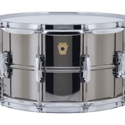 Ludwig LB408 Black Beauty Snare Drum 8X14 Smooth Shell