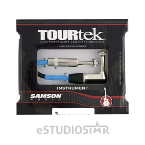 Samson TIL3 Tourtek 3' Instrument Cable w/ Right Angle Connector