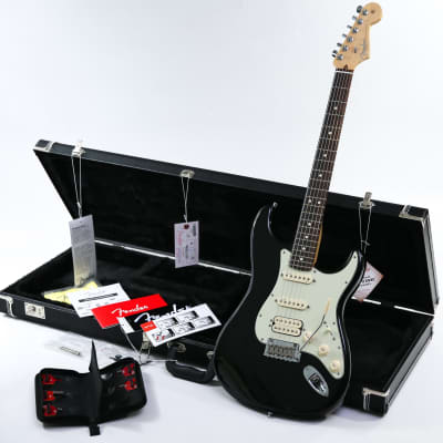 2014 Fender American Deluxe Strat Plus N3 HSS Strat Metallic Black Personality Cards & Case for sale