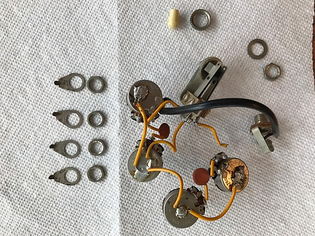 Gibson Vintage 1965 Wiring Harness - 500K pots 1965 | Reverb on gibson es-335 wiring, gibson switch wiring, gibson les paul wiring mods, gibson 50s wiring,