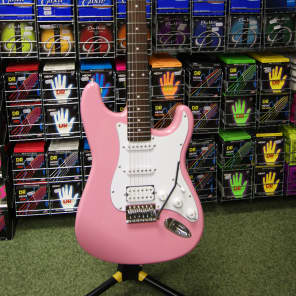 Cruiser ST-200 electric guitar in pretty pink by Crafter for sale