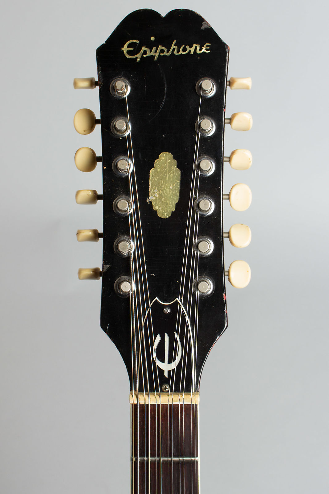 Epiphone  E360TD-C12 Riviera 12 String Semi-Hollow Body Electric Guitar (1967), ser. #878538, black hard shell case.