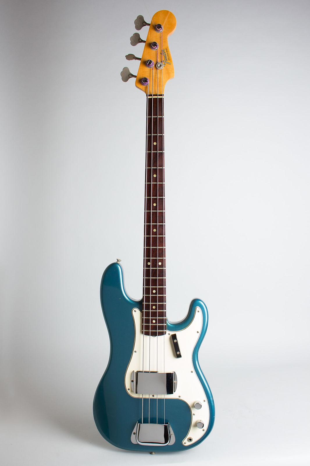 Fender  Precision Bass Solid Body Electric Bass Guitar (1966), ser. #150842, original black hard shell case.