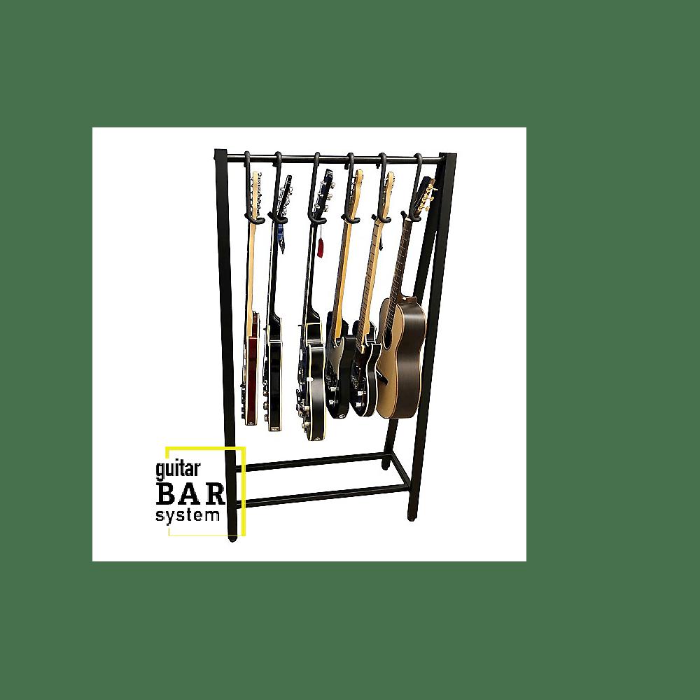Bootlegger Guitar  Guitar Bar Hanger Rack System  Guitar Display with 4 Hangers