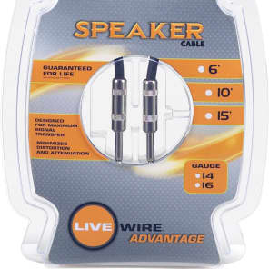 Live Wire S163-LW 16-Gauge Speaker Cable - 3'