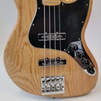 Fender Deluxe Active Jazz Bass, Ash Body Maple Fingerboard, Natural for sale
