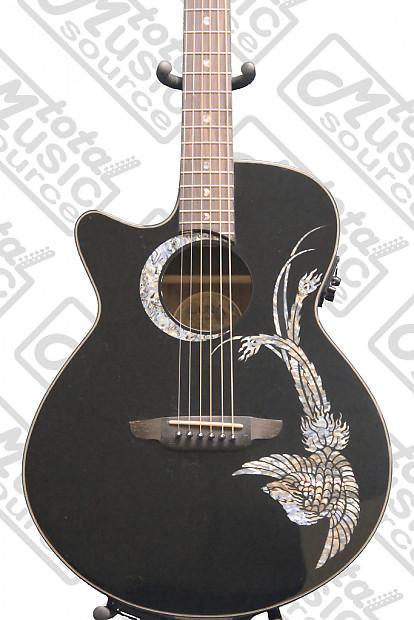 luna guitars fauna phoenix lefty acoustic electric guitar reverb. Black Bedroom Furniture Sets. Home Design Ideas