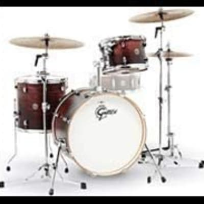 Gretsch Drums Gretsch CT1-J403-SAF Catalina Club 3 Piece Shell Pack 14x20 Bass, 8x12 Suspended, 14x14 Floor Tom Satin Antique Fade, inch