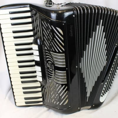 3734 - Black Atlas Century Piano Accordion LMMH 41 120 for sale