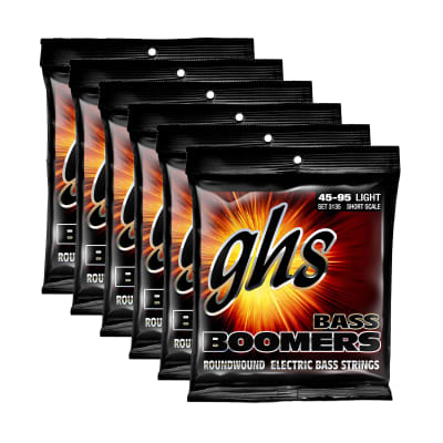 GHS 3135 Bass Boomers 45-95 Short Scale 6 Pack Bundle