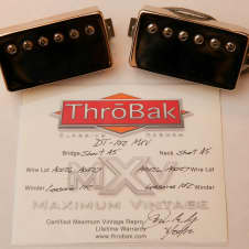 Throbak DT-102 Pickups w/ Gold Covers